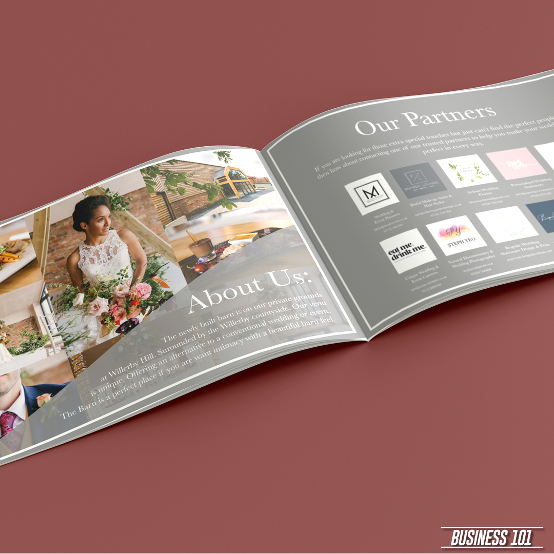 Design & Print in Hull - The Barn at Willerby Hill Brochure 2
