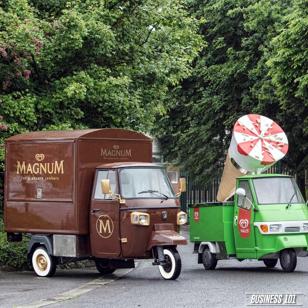 Piaggio Ape in Hull - Magnum & Cornetto