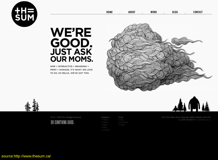 Black & White Website